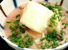 きのこと明太子の揚げ出し豆腐